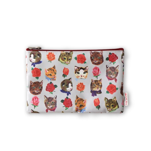 NATHALIE LETE FLAT POUCH CATS