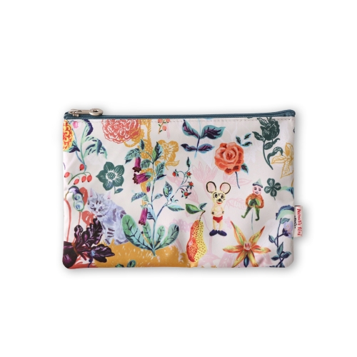 NATHALIE LETE FLAT POUCH MICKEY&FLOWER