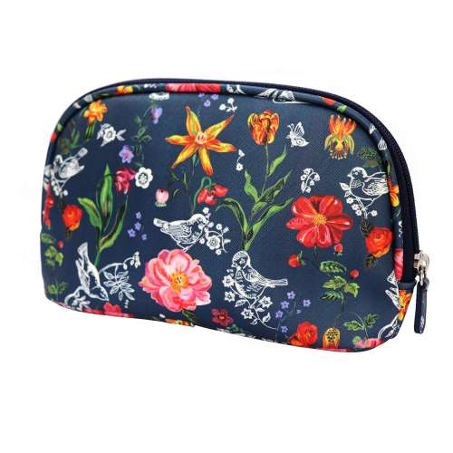 NATHALIE LETE COSMETIC POUCH MY GARDEN NAVY